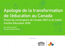 La feuille de route de l'apprentissage de Canada 2067